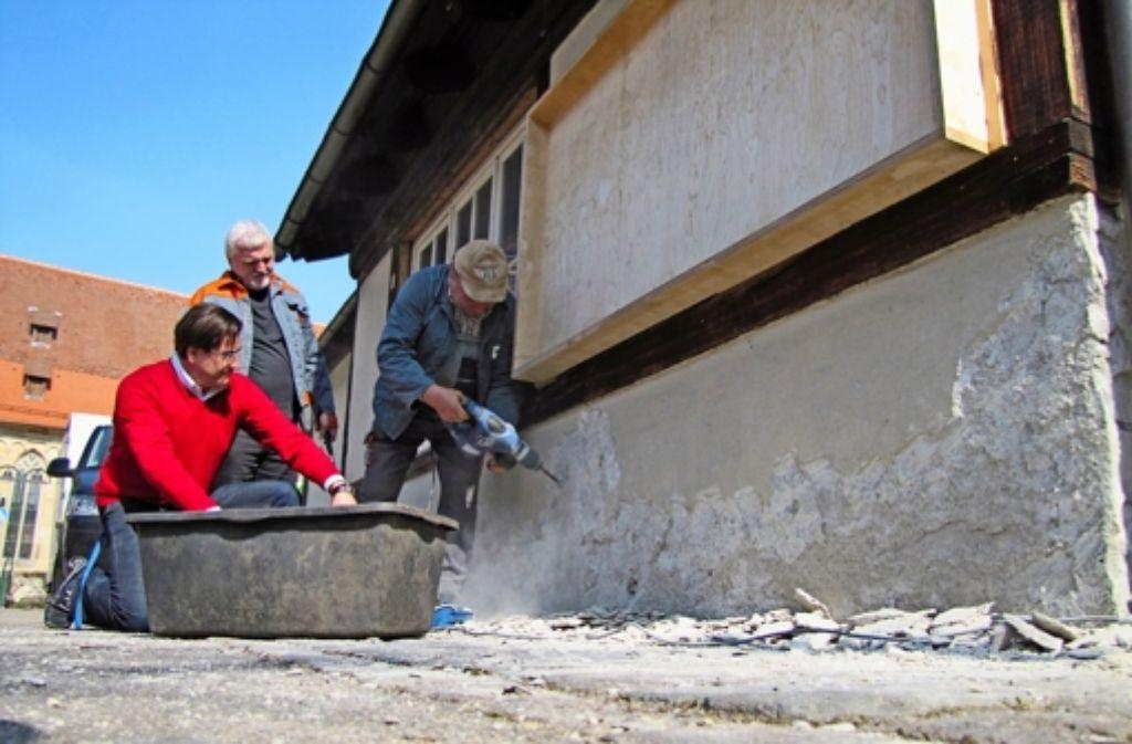 Die Sanierung des Waaghäusles ist das Lieblingsbeispiel der Gruppe. Foto: Archiv Sägesser