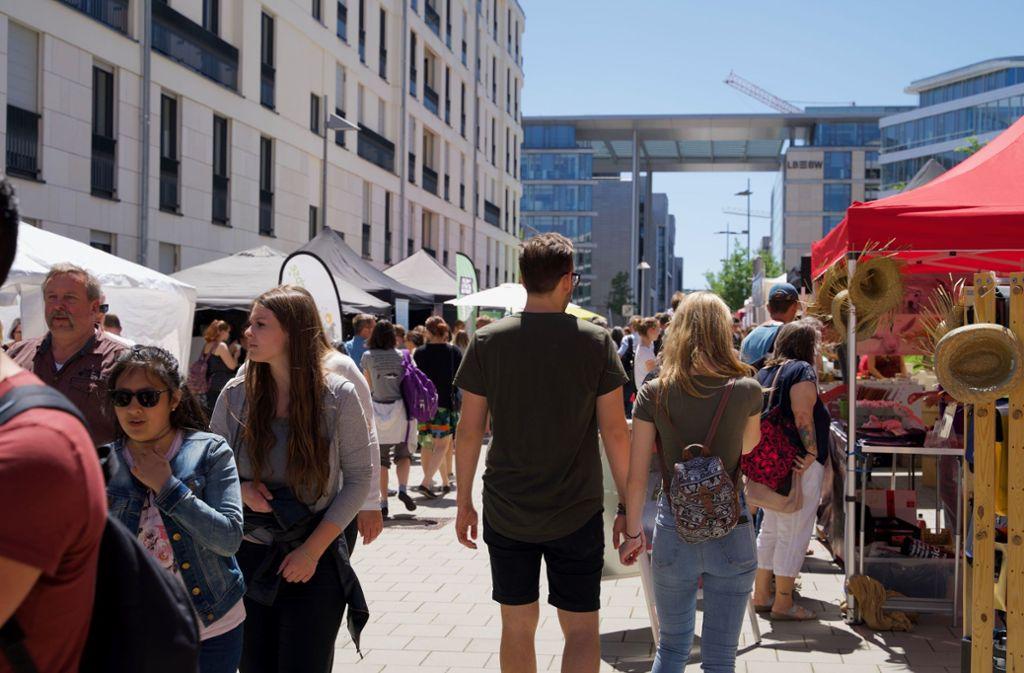 Die Vegan Street Days zogen am Samstag zahlreiche Besucher an. Foto: Lichtgut