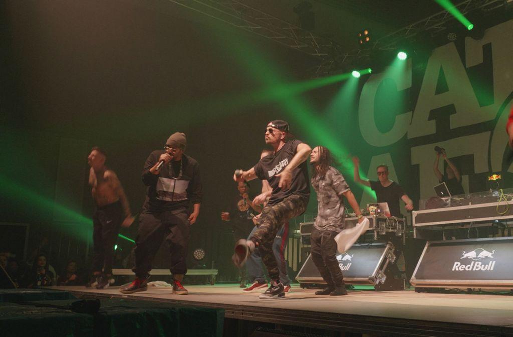 Die Rapper feierten in Stuttgart eine riesengroße Hip-Hop-Party. Foto: red