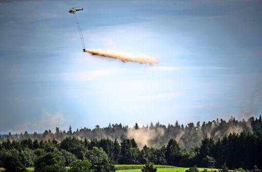 Helikopter-Kalk-Kur   für den Wald