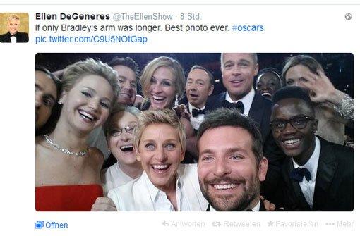 Star-Selfie bricht alle Twitterrekorde