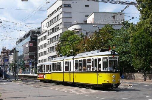 Historische Straßenbahn macht Pause