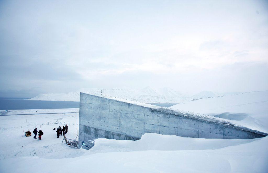 Im Svalbard Global Seed Vault, einem Globalen Saaguttresor in Spitzbergen, werden Samen eingefroren und konserviert. Dieses Foto stammt aus dem Jahr 2008. Foto: Archiv AP