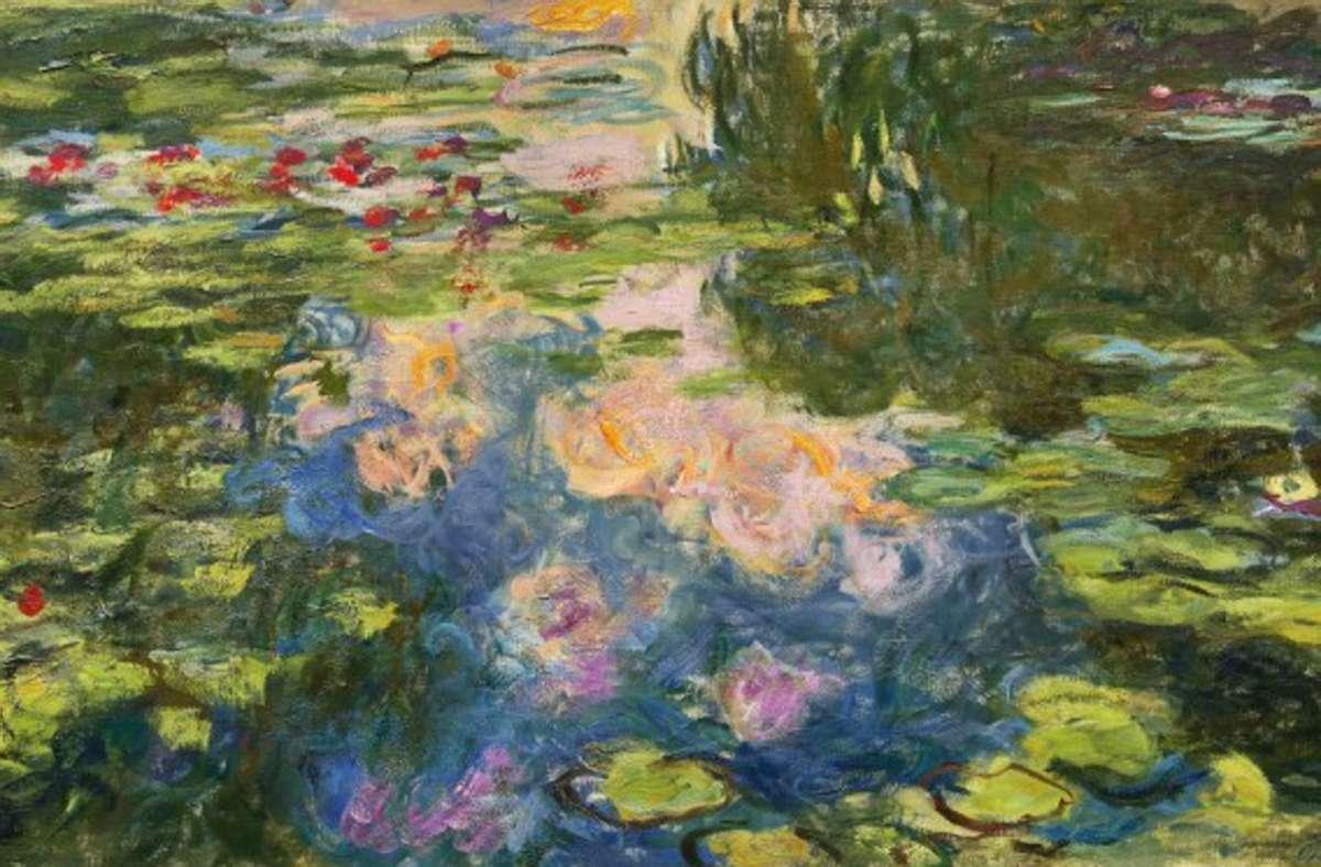 Monets Seerosenbild wurde auf vierzig Millionen Dollar geschätzt. Foto: Sotheby's/Katalog