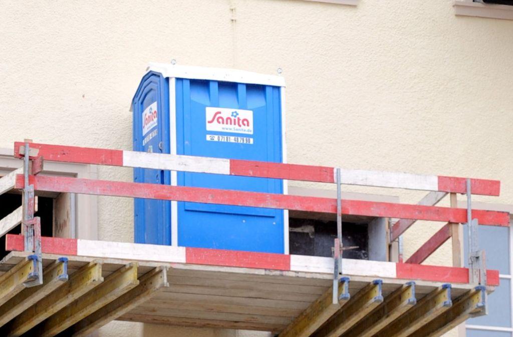 Eine Baustellen-Toilette wurde zum Gegenstand eines heftigen Streits (Symbolbild). Foto: dpa