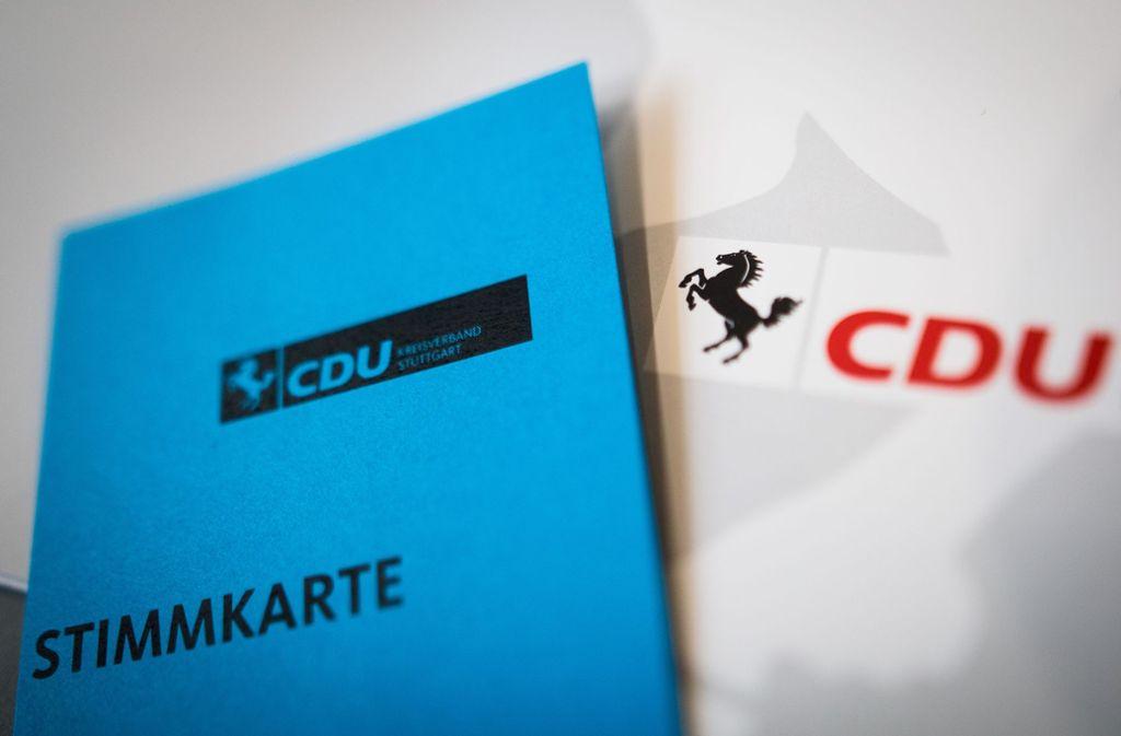 Die Stuttgarter CDU hat ihre Kandidatenliste für die Kommunal- und Regionalwahl am 26. Mai beschlossen. Foto: Lichtgut/Christoph Schmidt