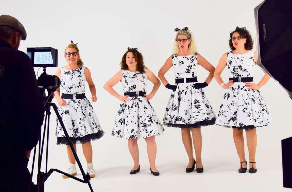 """DooWop Mädla, so nennt sich die Frauenband, die den    Hit """"Wellerman"""" in die schwäbische Version """"Mach i Kartoffelsalat"""" verwandelt hat. Foto: Nägele"""