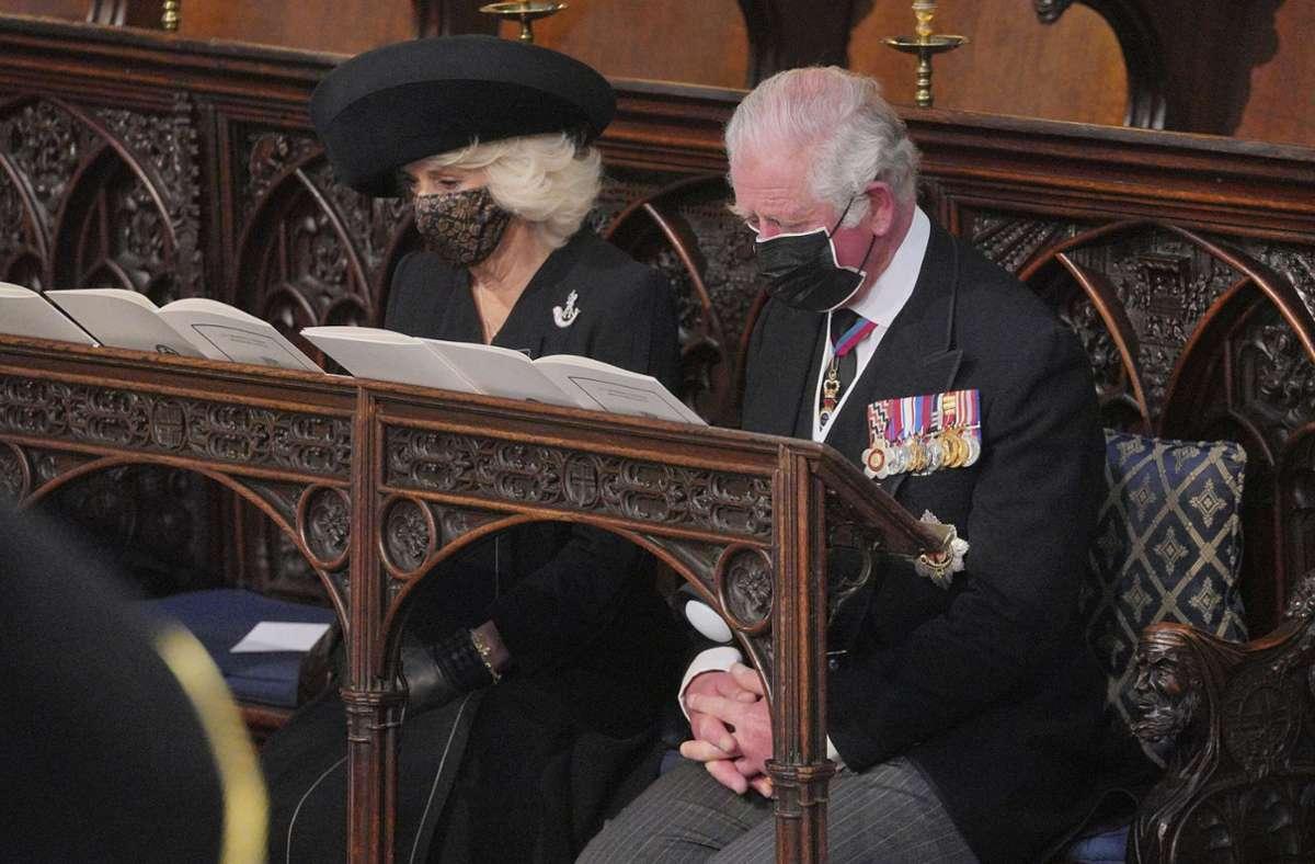 Der älteste Sohn von Queen Elizabeth II. und Prinz Philip, Charles hatte augenscheinlich mit den Tränen zu kämpfen. Foto: dpa/Dominic Lipinski
