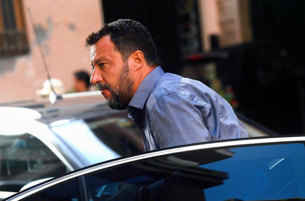 Lega-Chef Matteo Salvini will ganz nach oben. Doch der Weg dahin ist steiniger als gedacht. Foto: AFP