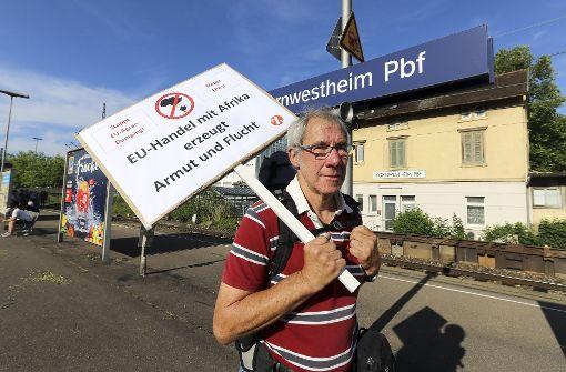 Protestzug nach Hamburg von Polizei aufgehalten