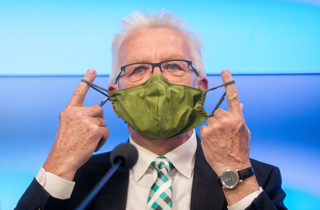 Die Regierung Winfried Kretschmann kündigt weitere Lockerungen von Corona-Maßnahmen an. Foto: dpa/Christoph Schmidt