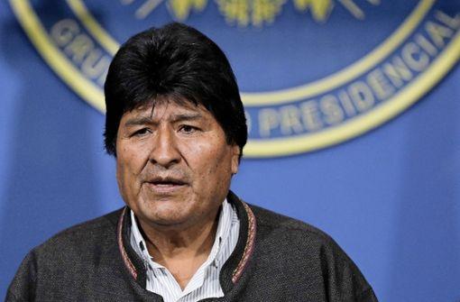Präsident Evo Morales erklärt seinen Rücktritt