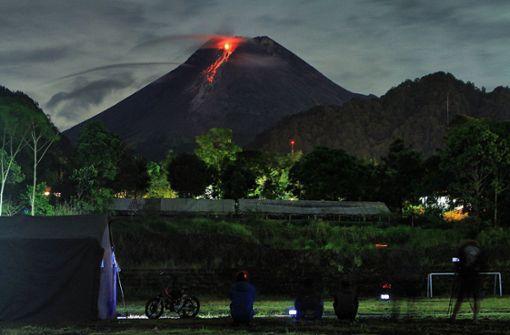 Vulkan Merapi sorgt erneut für spektakuläre Bilder