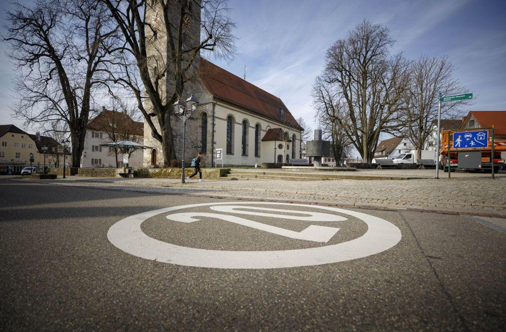 Im Bereich des Kirchplatzes wird  das Welzheimer Stadtzentrum attraktiver Foto: Gottfried Stoppel