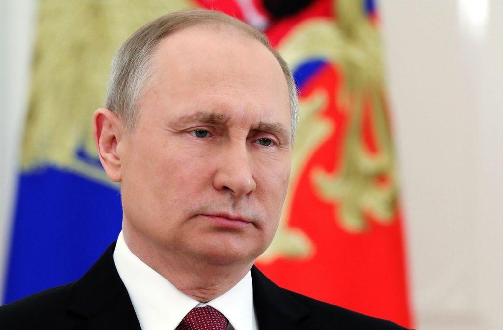 Wladimir Putin vor der Vereidigung. Foto: POOL SPUTNIK KREMLIN/dpa