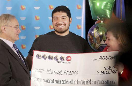 24-Jähriger gewinnt dritthöchsten Jackpot in US-Lottogeschichte