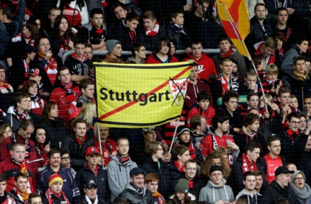 Das Derby Stuttgart – Freiburg hat Tradition.  Foto: Pressefoto Baumann