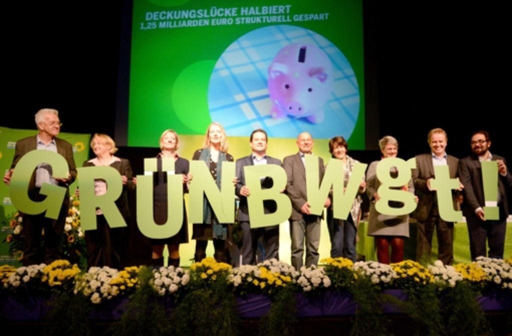Auf ihrem Landesparteitag in Esslingen übten sich die Grünen in Harmonie. Die inhaltliche Debatten blieben blass. Foto: dpa