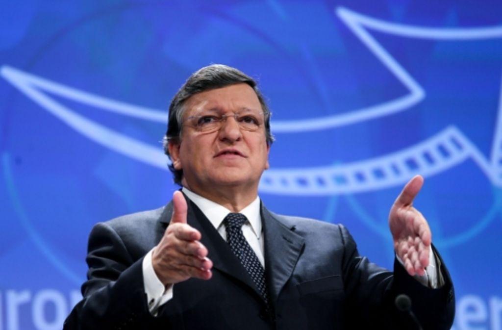 EU-Kommissionspräsident  Barroso hat Deutschlands Exportüberschuss im Visier. Foto: dpa