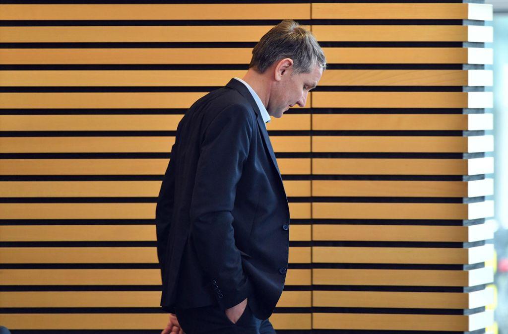 Was kommt nach der  Provokation? Björn Höcke im Thüringer Landtag. Foto: dpa/Martin Schutt