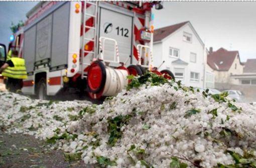 Das Unwetter zieht mit Urgewalt über die Region Stuttgart