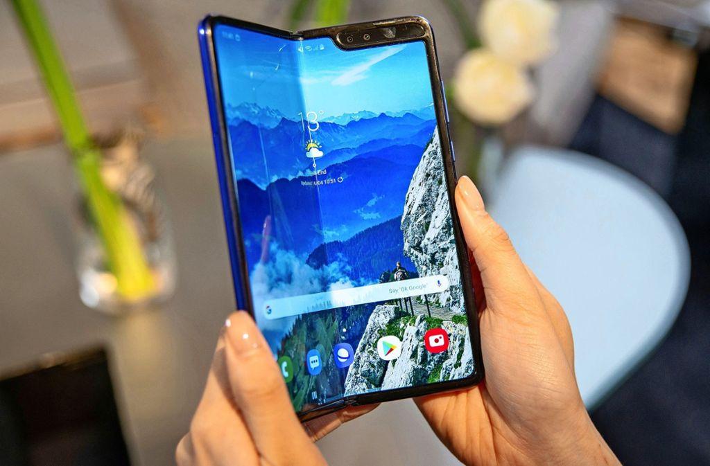 Samsungs Falthandy Galaxy Fold ist nicht marktreif. Foto: dpa