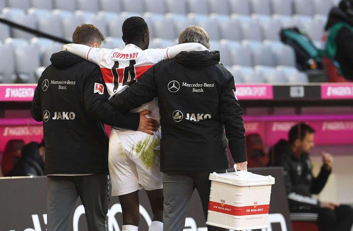 Silas Wamangituka hat sich im Spiel gegen die Bayern verletzt. Foto: AFP/Andreas Gebert