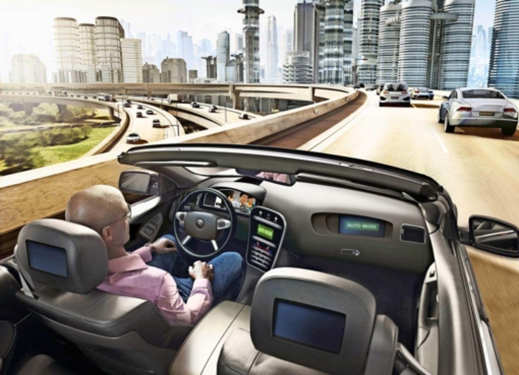 Bislang entstehen Bilder zu selbstfahrenden Autos meist am Computer. Dringt die  CDU mit ihrer Forderung durch, wären Schnappschüsse  in Vaihingen möglich. Foto: Forschungsinitiative Ko-Haf