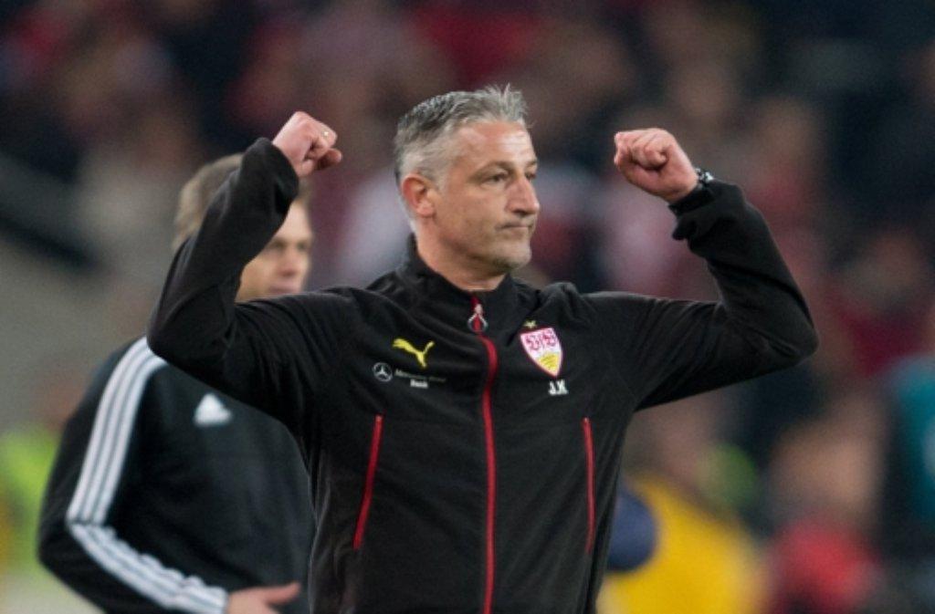 Mit Jürgen Kramny ist der VfB Stuttgart auf die Erfolgsspur zurückgekehrt. Foto: dpa