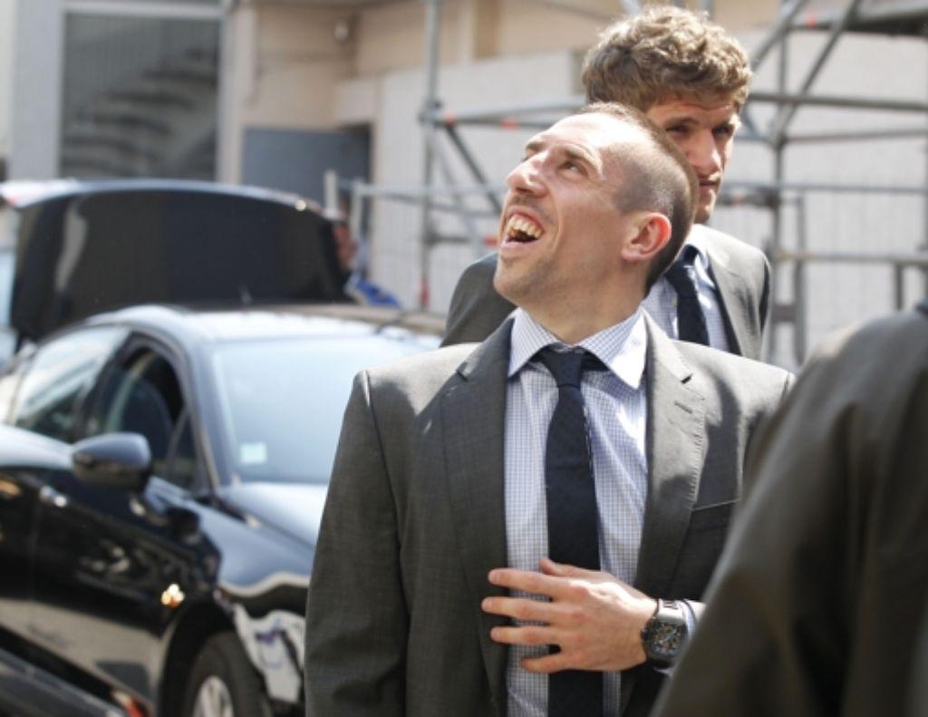 """Franck Ribéry findet seine Rückkehr nach Marseille """"schon ein wenig komisch"""". Foto:"""