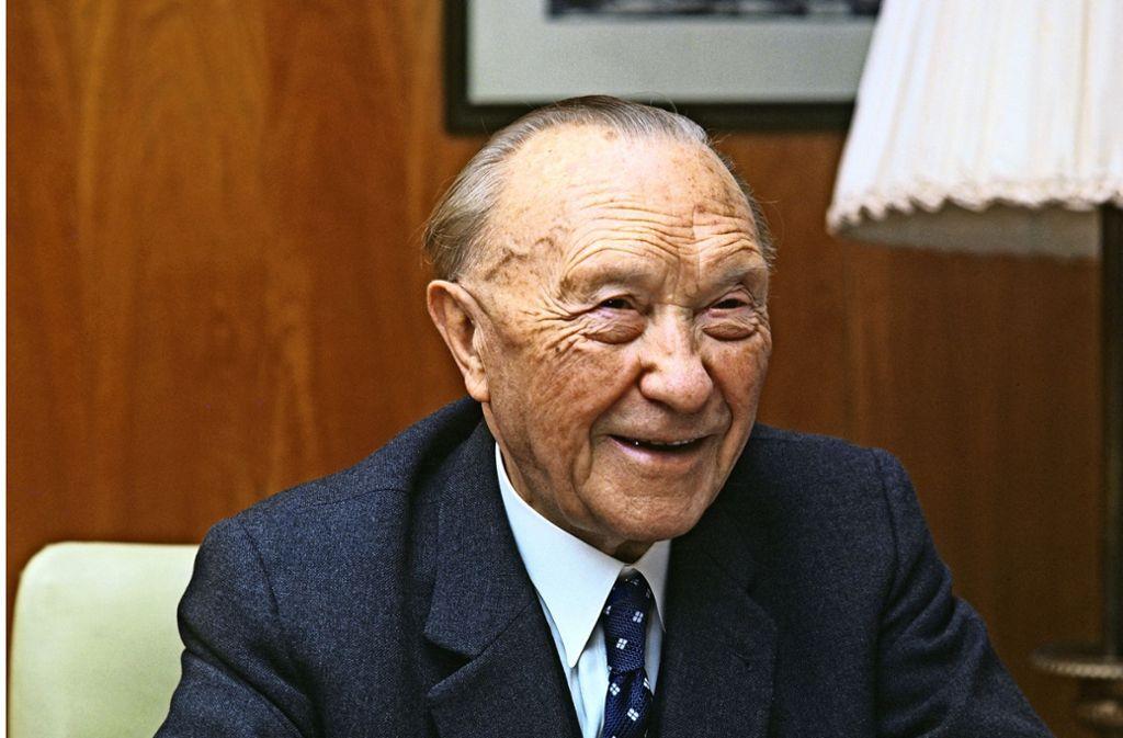 Kaum zu glauben, aber wahr: Konrad Adenauer diente als Vorbild für ein neues Ludwigsburger Projekt. Foto: dpa