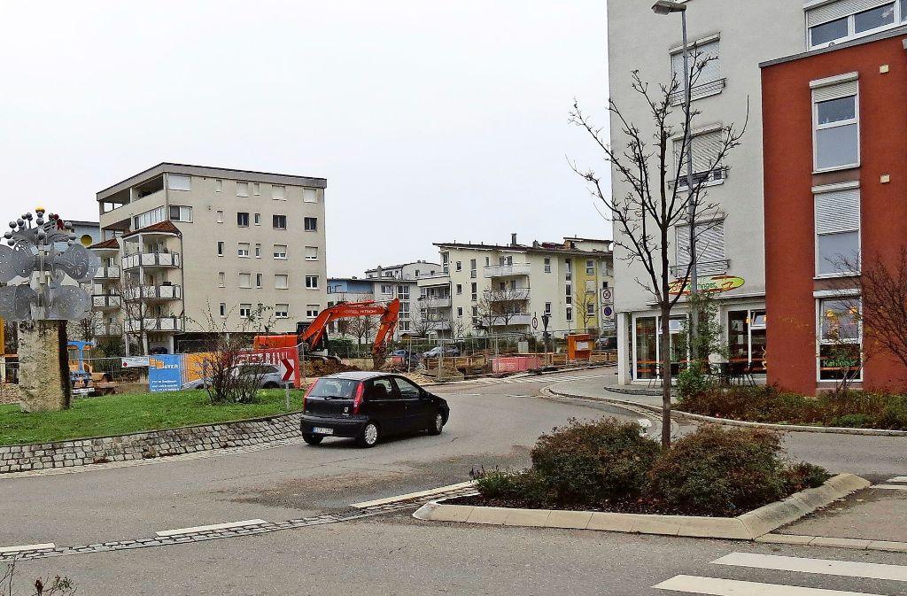 Die Baustelle am Kreisel Foto: Otto-H. Häusser