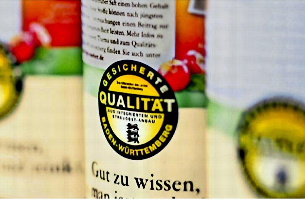 Das Symbol im Original: das baden-württembergische Landeszeichen ruft viele Trittbrettfahrer auf den Plan. Trittbrettfahrer: Auch Kaufland nutzt das BW-Signet für Produkte. Foto: dpa