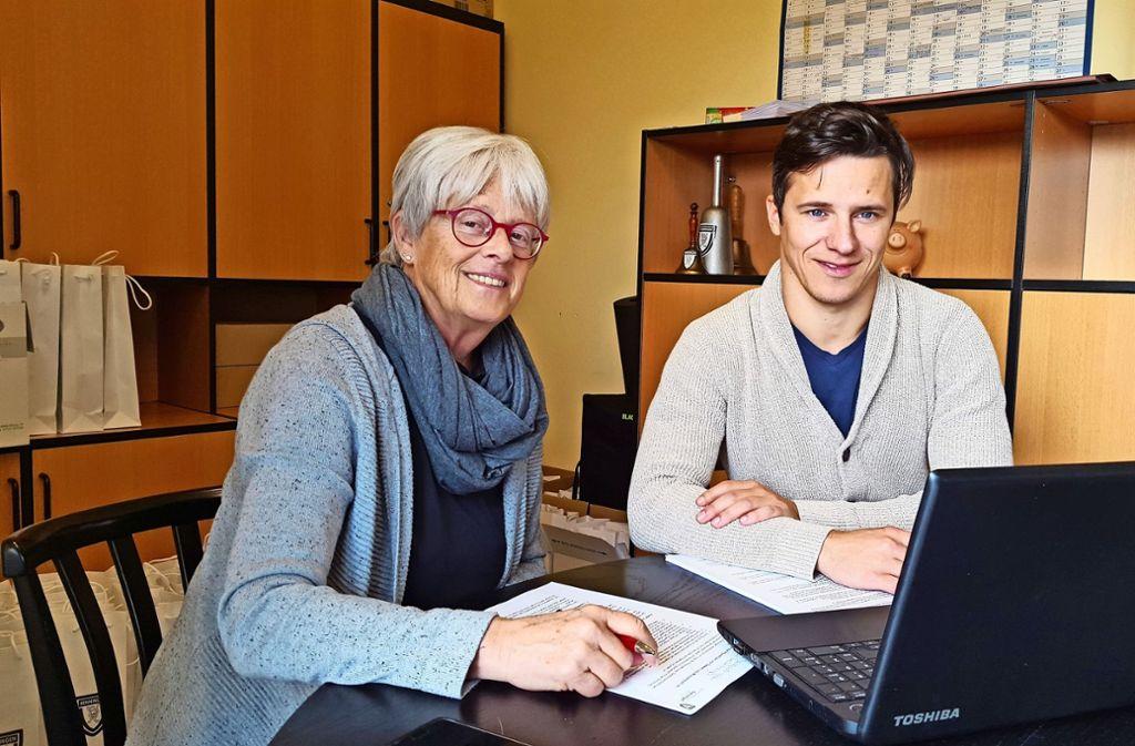 Ziehen an einem Strang: Präsidentin Els Clausen und Geschäftsführer Daniel Theinl. Foto: nam