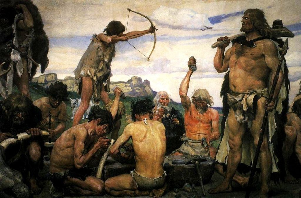 Jäger der Steinzeit: Gemälde des russischen Historienmalers von Viktor Vasnetsov (1848-1926). Foto: Wikipedia commons