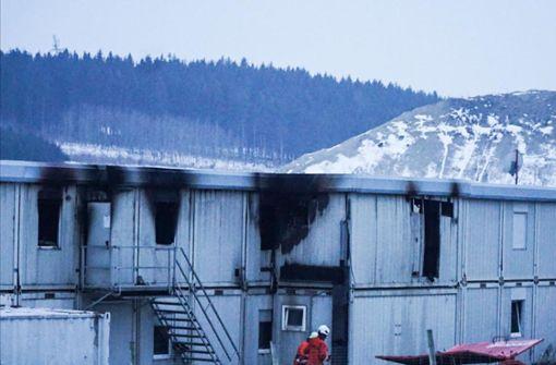 S21-Container brennen erneut