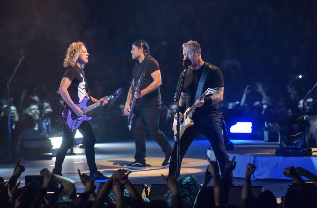Metallica beim Auftritt in der Stuttgarter Schleyerhalle. Foto: Lichtgut/Max Kovalenko