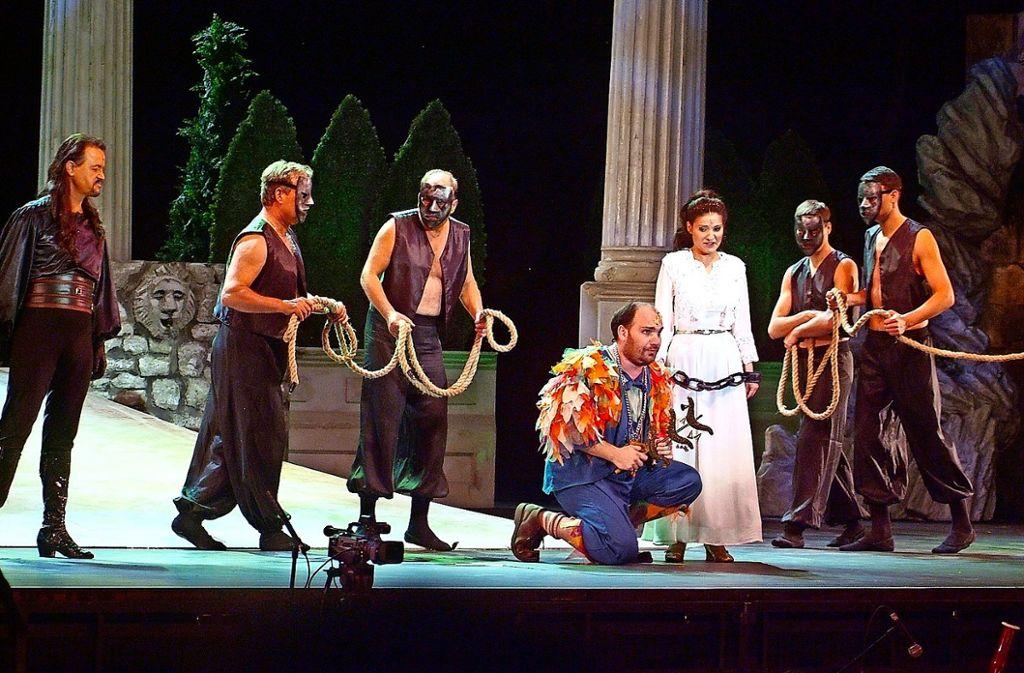 Das bekannte Singspiel wurde mit stimmungsvollen Bildern in Szene gesetzt.  Foto: Veranstalter