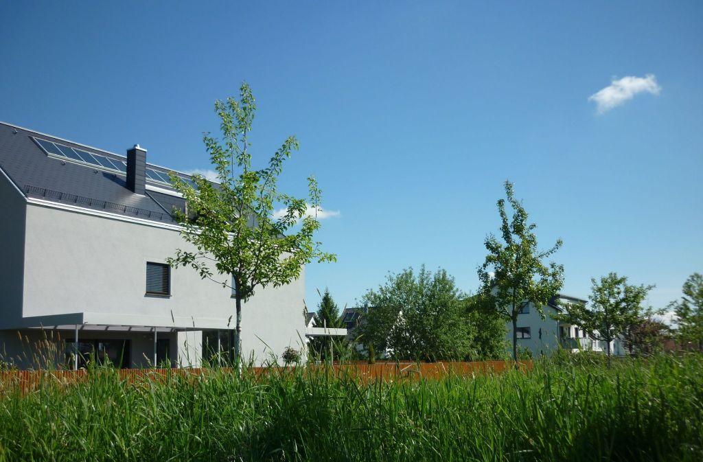 Im Neubaugebiet Schießhausäcker in Stuttgart-Plieningen  sind noch vier Grundstücke unbebaut. Foto: Sägesser