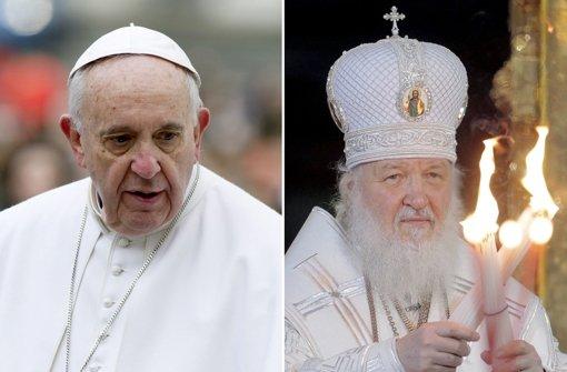 Papst trifft erstmals russisch-orthodoxen Patriarchen