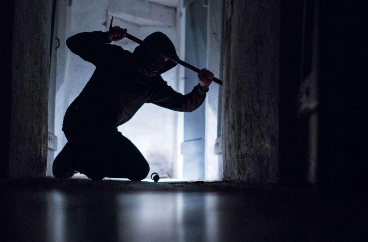 Der Einbrecher verschaffte sich über die Glasfront Zutritt zum Gebäude (Symbolbild). Foto: dpa/Silas Stein