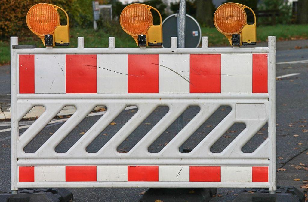 Straßensperrungen Bw