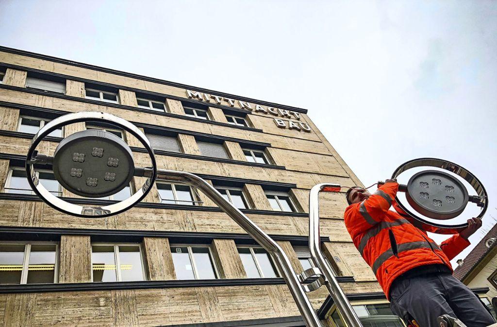 So sehen die neuen LED-Leuchten an der Ecke Schulstraße/Königstraße aus. Foto: Lichtgut/Leif Piechowski