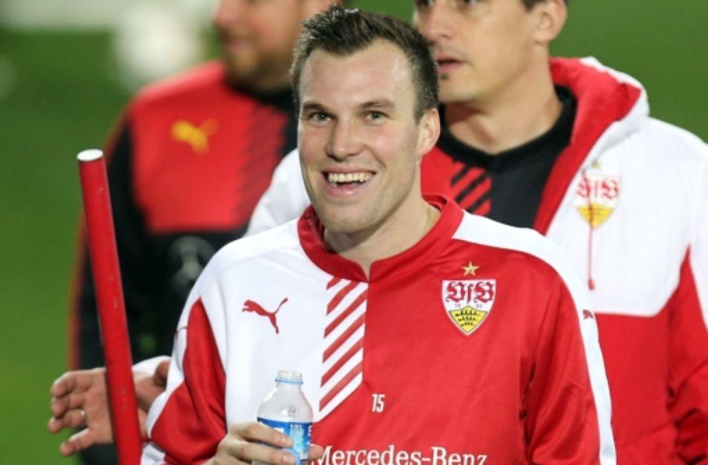 Google weiß auch nicht alles – oder warum sollte VfB-Neuzugang Kevin Großkreutz ins Tor. Foto: dpa