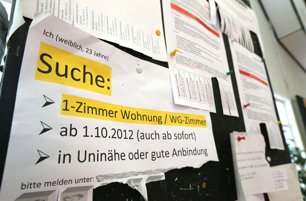 Studentenbuden sind seit Jahr und Tag sehr gefragt. Foto: Achim Zweygarth