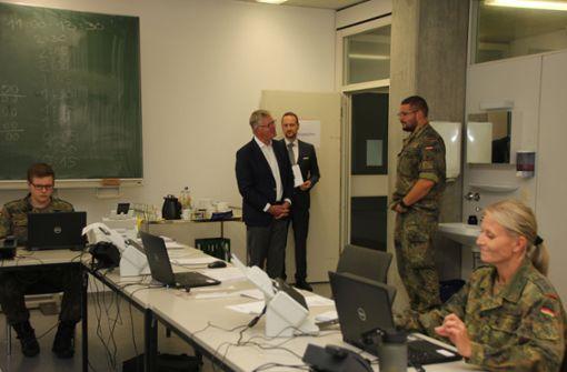 Die Bundeswehr unterstützt  an der Corona-Front
