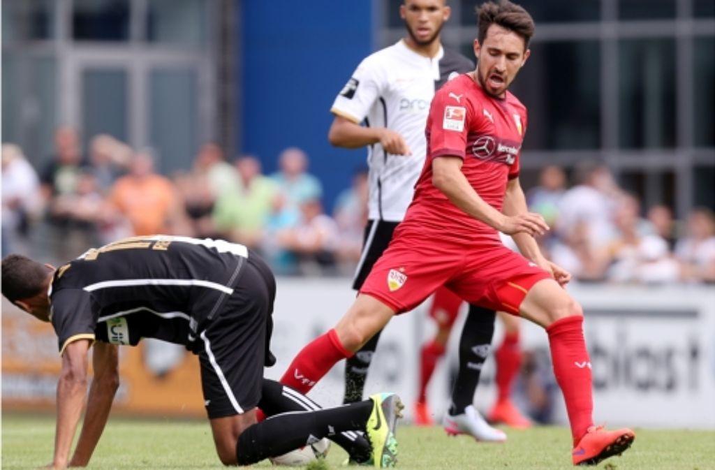 Vielseitig verwendbar: der VfB-Mittelfeldspieler Lukas Rupp  Foto: Pressefoto Baumann