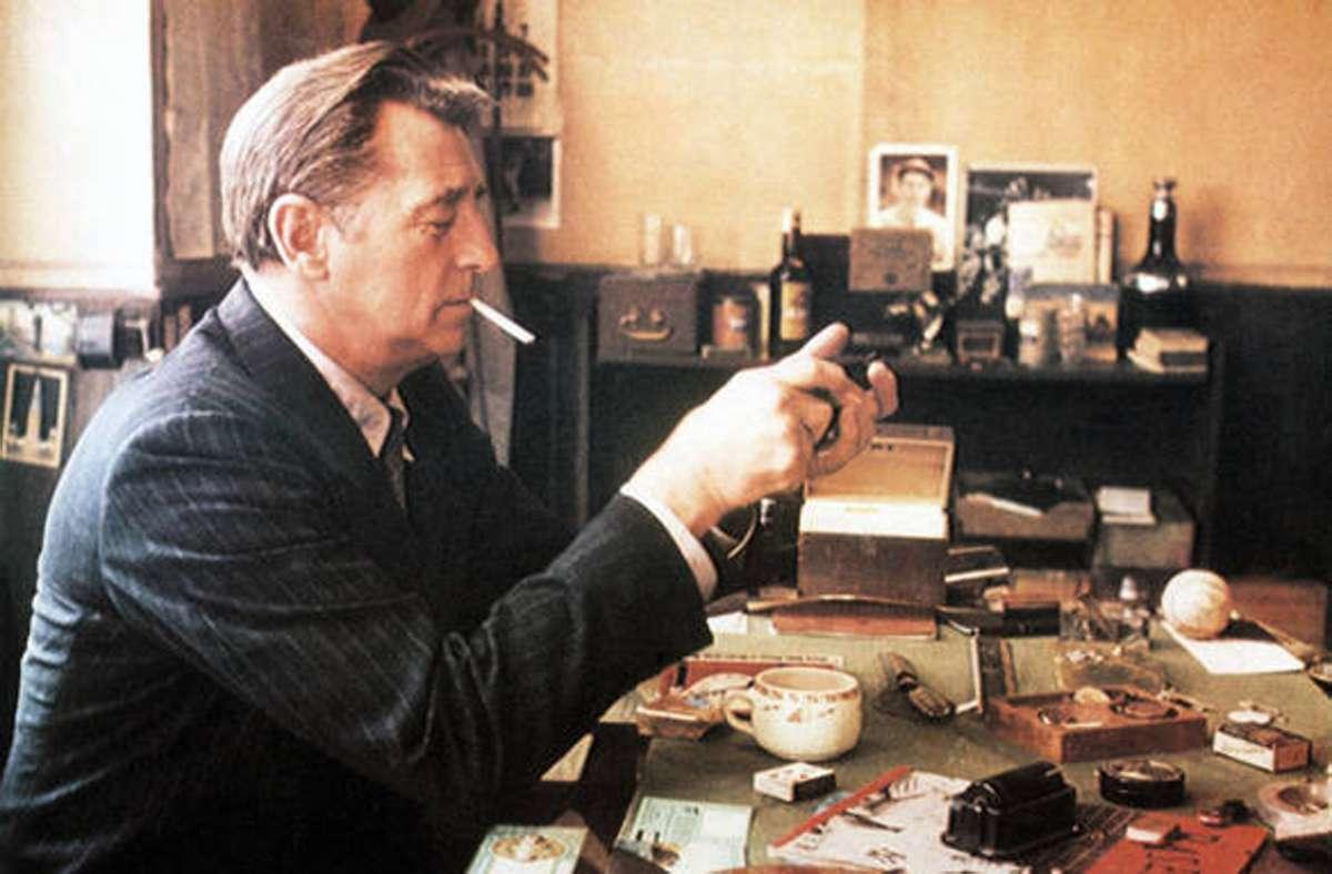 Robert Mitchum als gealterter Philip Marlowe: Den Anzug hat er   gehasst. Foto: imago/Everett Collection