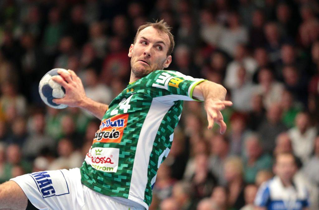 Marcel Schiller: Der Linksaußen wirft acht Tore für Frisch Auf, zu Punkten reicht es nicht. Foto: Baumann