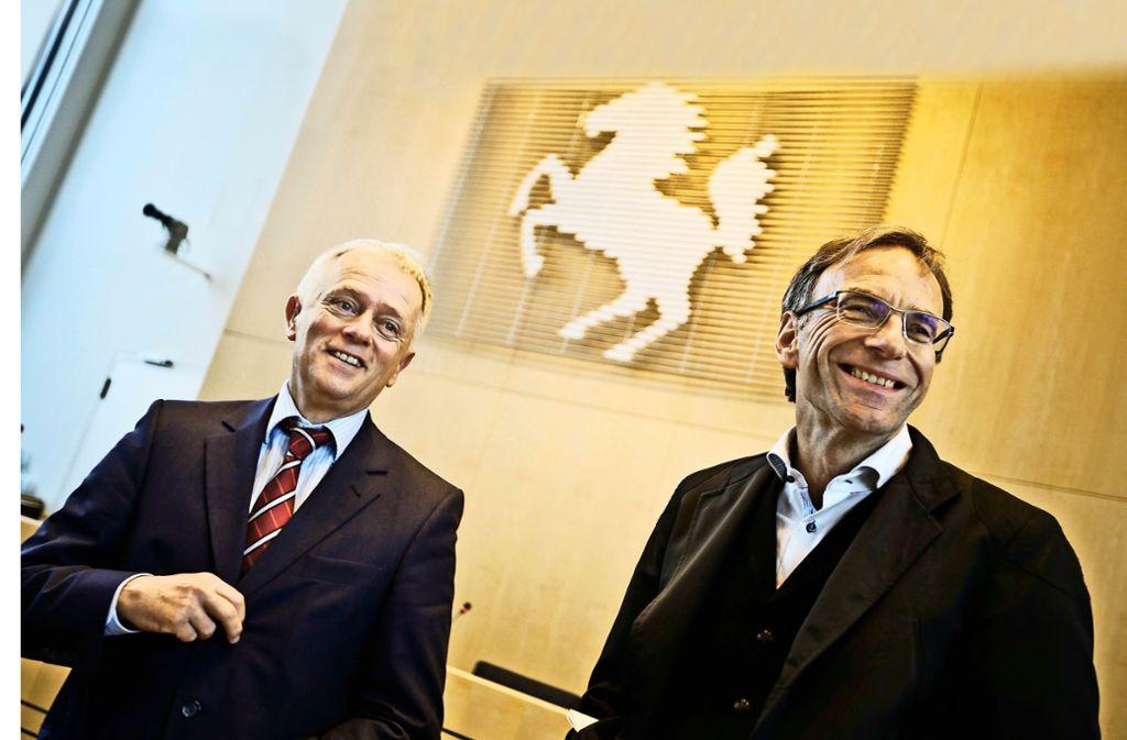 Spätestens am Mittwoch will sich OB Fritz Kuhn (links) zu Werner Wölfles  dienstlicher Erklärung in Sachen International Unit äußern. Foto: Leif Piechowski